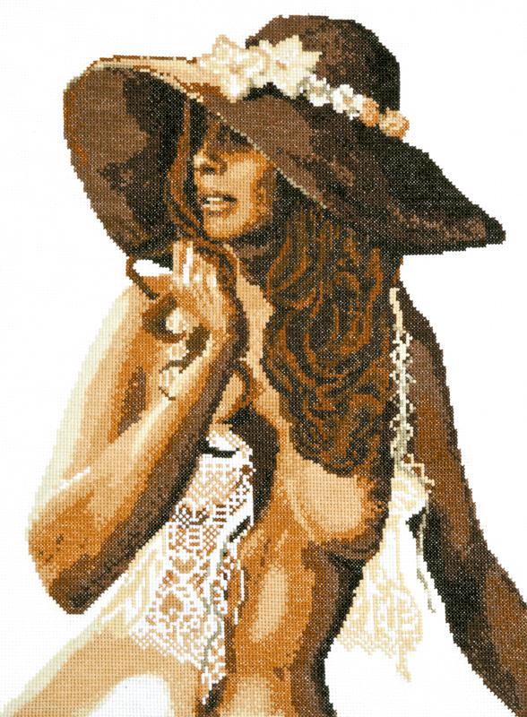 Вышивка Обнаженная Женщина